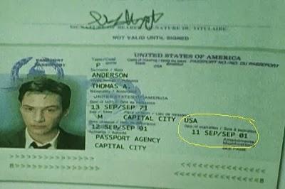 Matrix 11 de septiembre del 2001 o 911