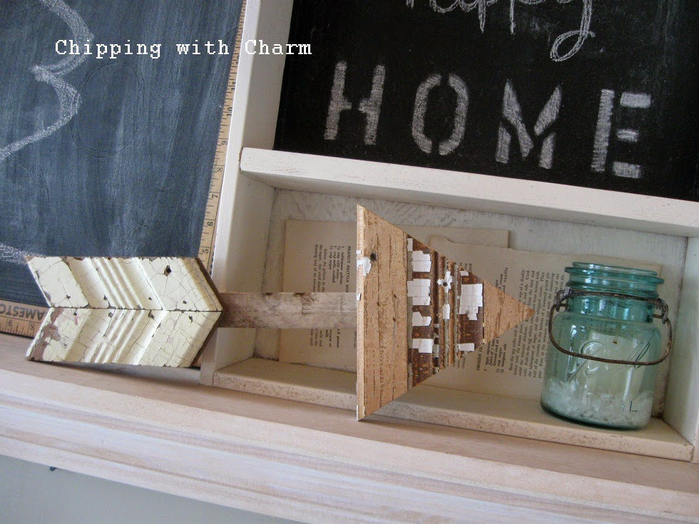 Chipping with Charm: Simple Winter Mantel...http://chippingwithcharm.blogspot.com/