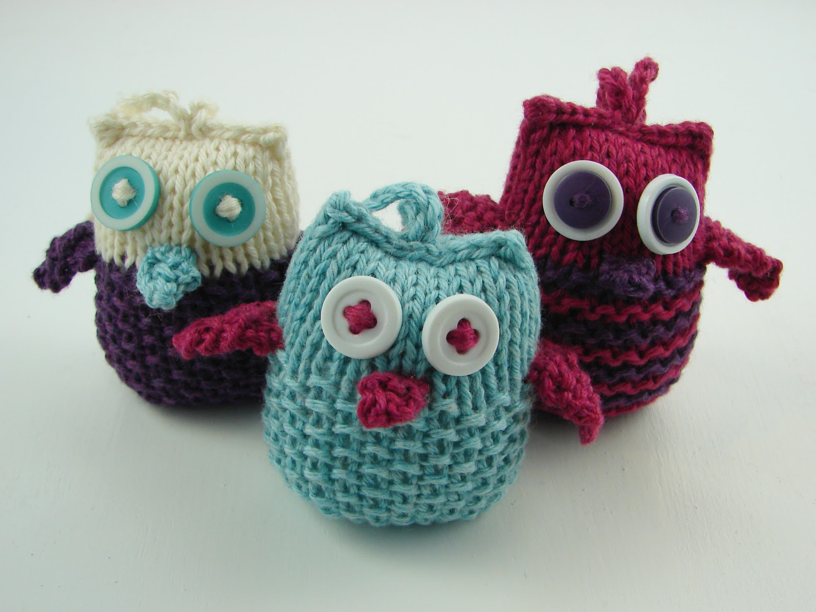 Owl Knitting Patterns Free : Dagens julestrikk: Owl Ornaments Strikkeoppskrift.com
