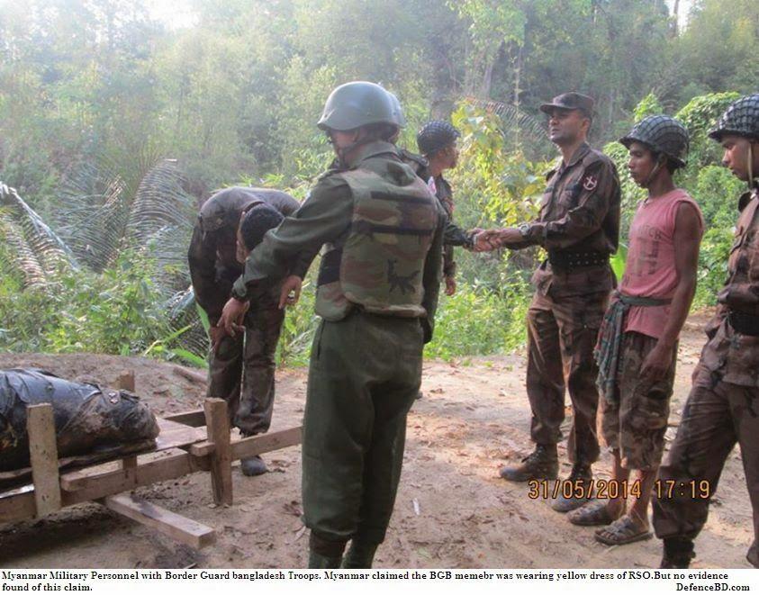 Myanmar-Bangladesh Border Troops