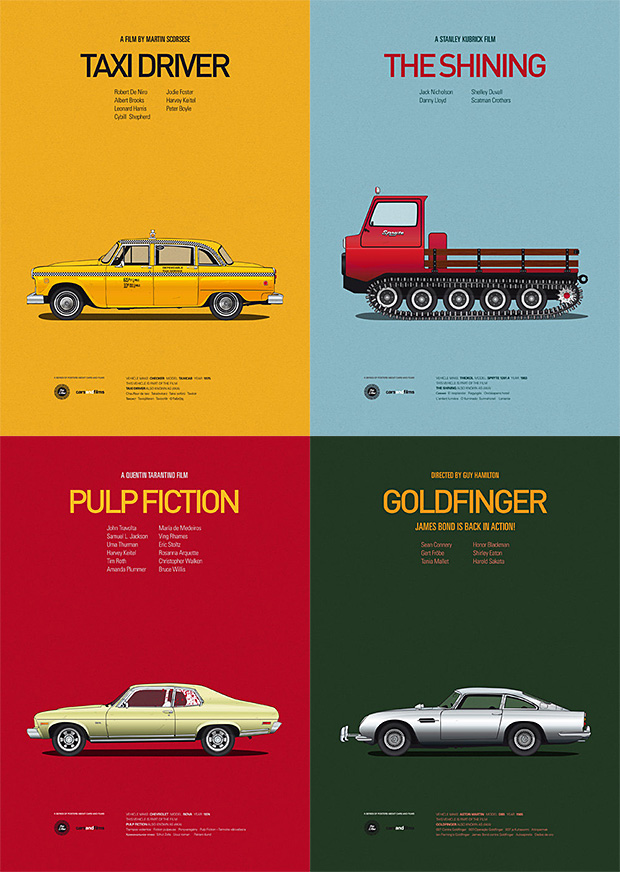 Cars and Films Prints | Cars and Films Prints Price $27 Spanish artist Jesús Prudencio has created a collection of illustrated A3-size color posters celebrating cool cars