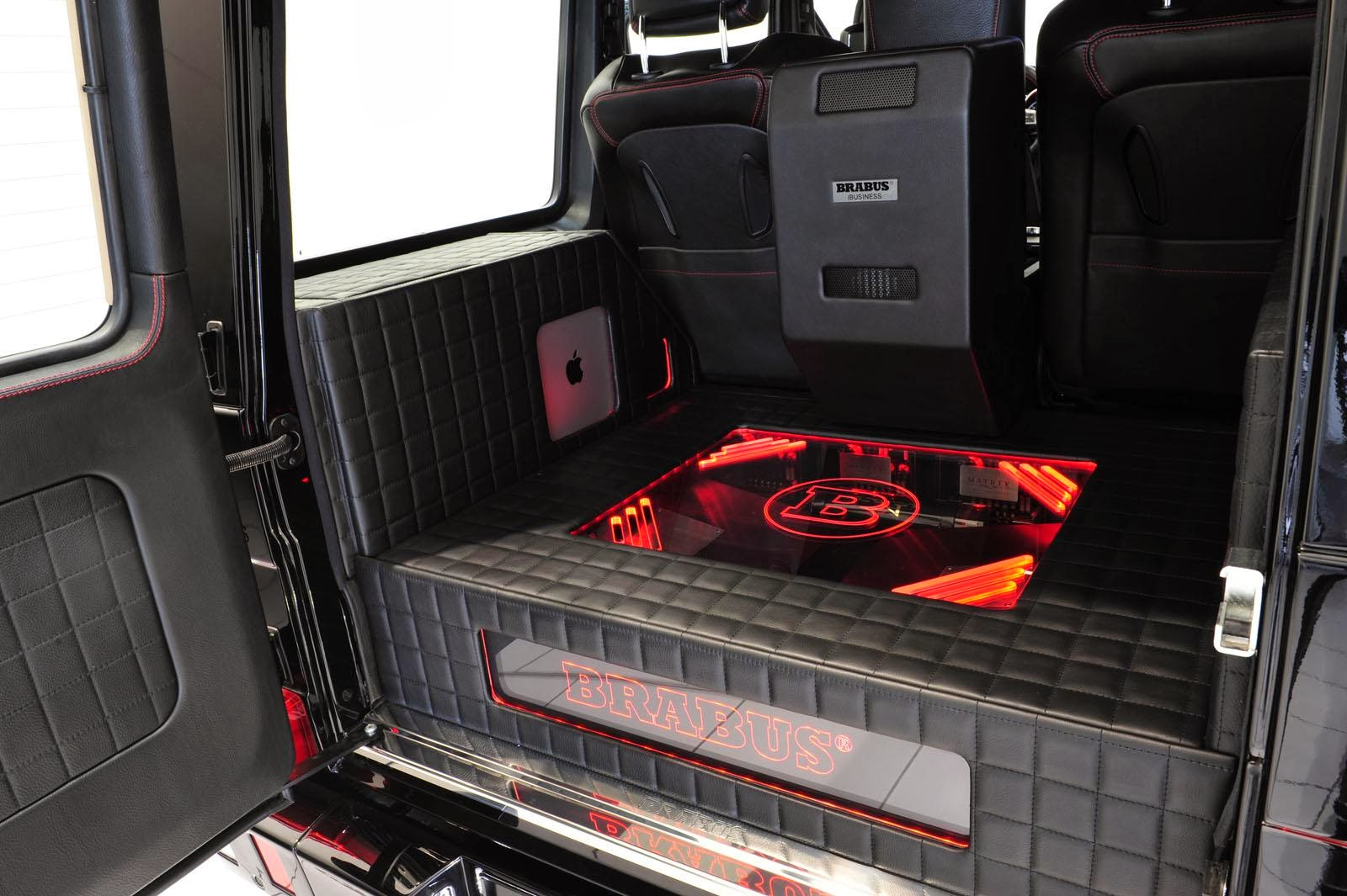 Trunk of Brabus's 800 iBusiness GWagon