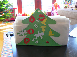 preschool christmas craft napkin holder
