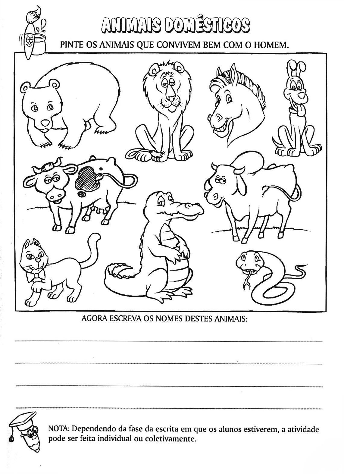 seres vivos animais selvagens e domÉsticos cantinho do educador