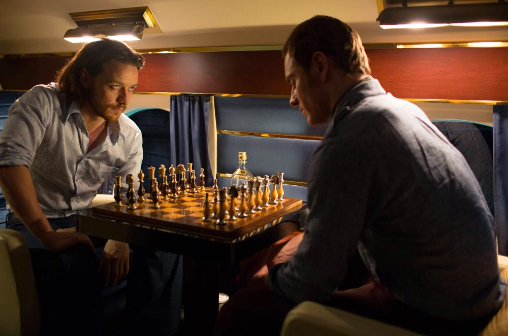 James McAvoy and Michael Fassbinder in X-Men Days of Future Past