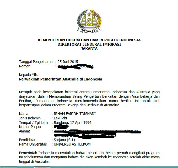 Whv Australia Cara Mendapatkan Surat Rekomendasi Dari