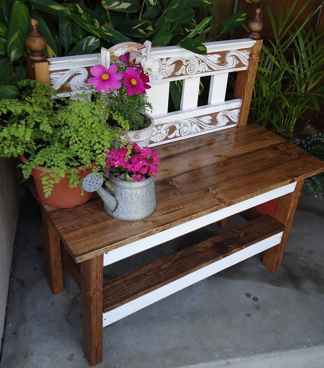 Cottage Style Bench - SOLD