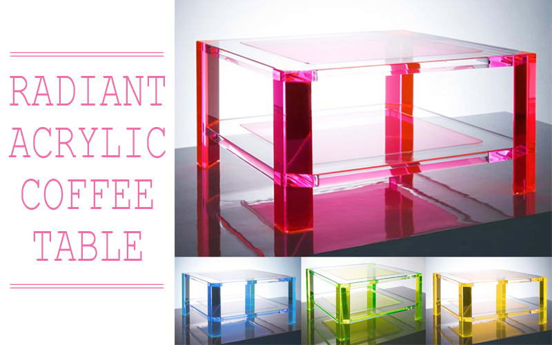 Decata designs in love with lucite for Used acrylic coffee table