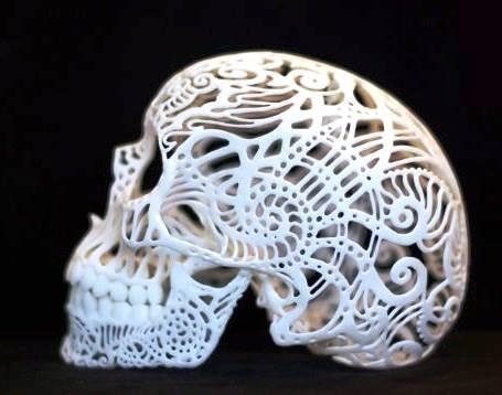 Caveira feita numa Impressora 3D