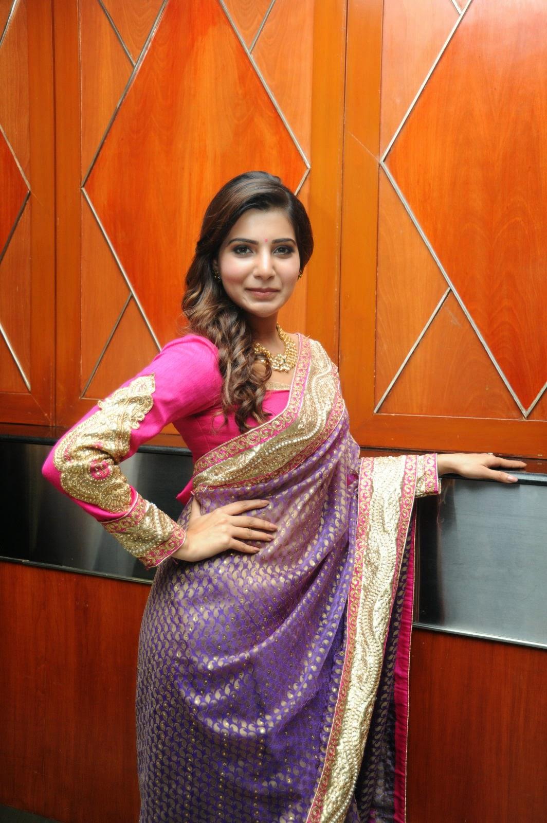 Samantha gorgeous photos in saree-HQ-Photo-13