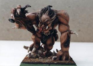 miniatura de principe demonio escala Warhammer fantasy esculpida y pintada por ªRU-MOR