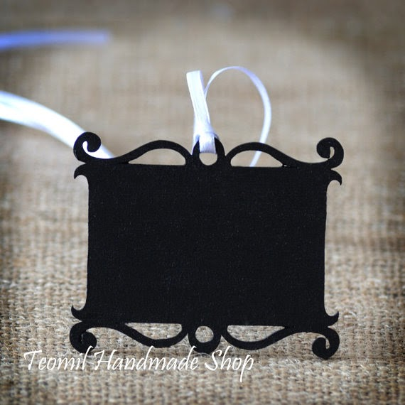 Chalkboard Escort Cards, Favor Tags or Gift Labels, Wedding Decor - SET OF 25