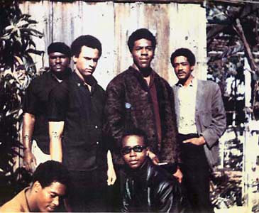 Original six members of the Black Panther Party in November 1966 Elbert Big Man Howard Huey P Newton Defense Minister Sherman Forte Bobby Seale Chairman Reggie Forte and Little Bobby Hutton Treasurer