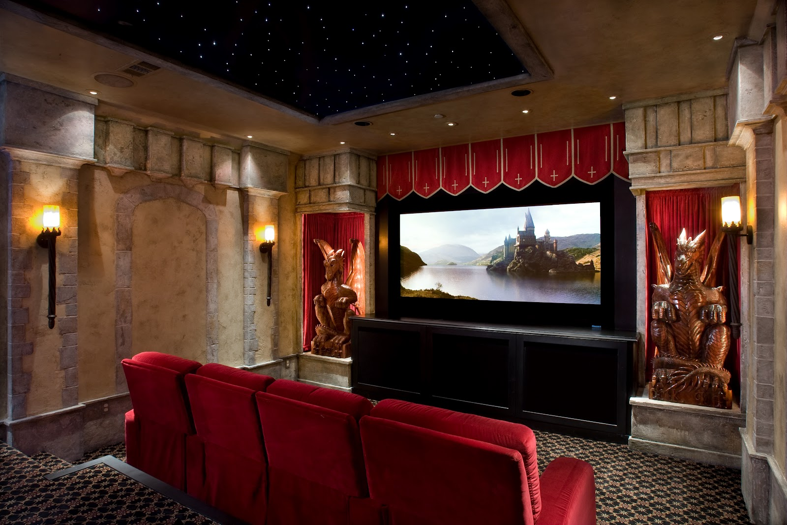Not just plain jane a movie night in Home cinema interior design ideas