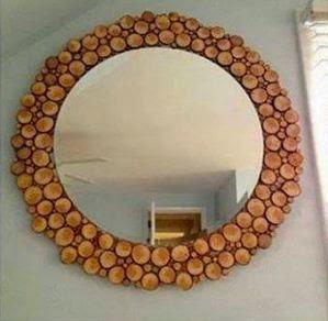 C mo decorar un espejo con madera cositasconmesh - Como decorar un espejo ...