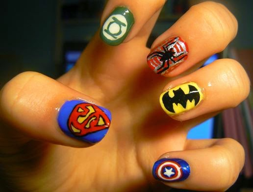 Nail art Designs of Superheroes