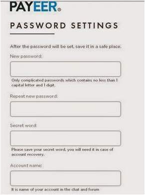 Cara Setting Password Akun Payeer