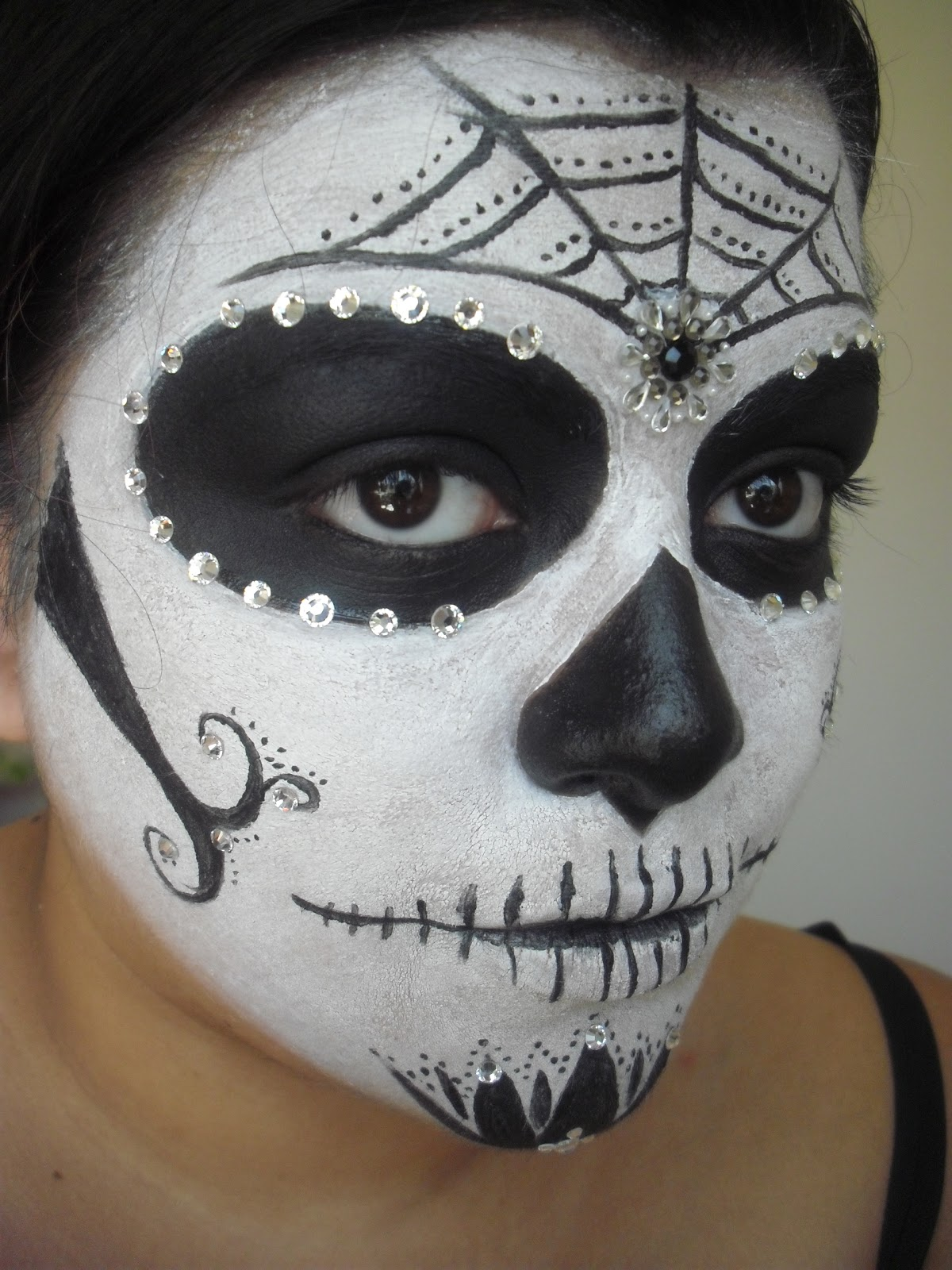Christina D Makeup: Simple Sugar Skull (Calavera)