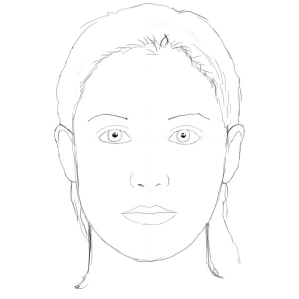 Projects In Computers Drawing Basic Face Head Proportions