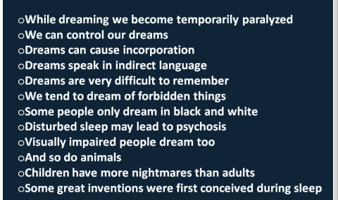 Interesting facts about dreams you should know. ~ CK Jacob ...