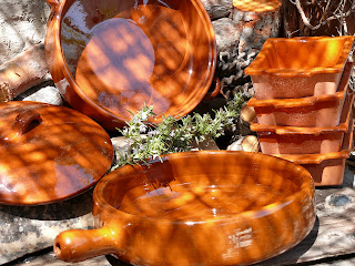 Terracotta cazuela sets from Spain