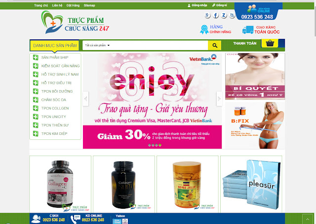 Share Template blogspot bán hàng chuẩn SEO: shop thực phẩm chức năng, mỹ phẩm...