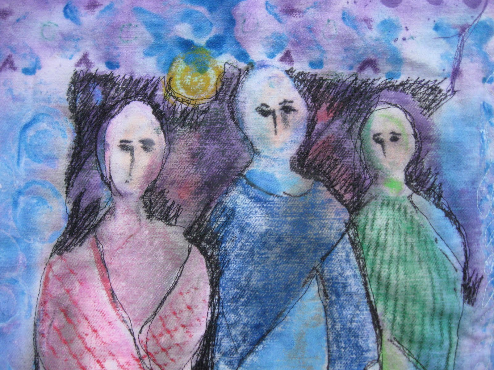 moon faces three wise women
