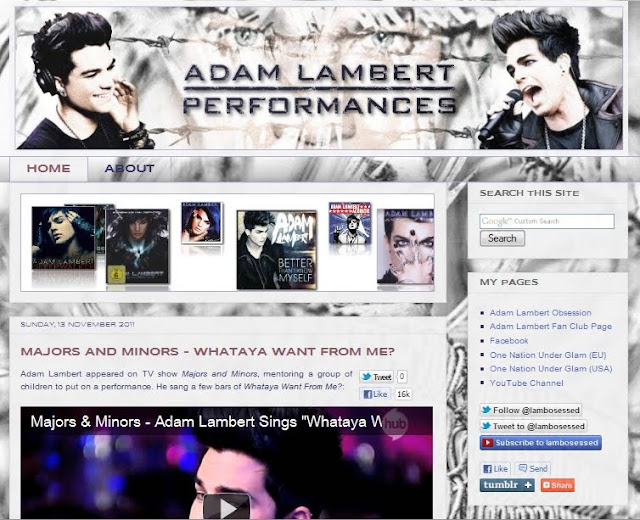 Adam Lambert Performances