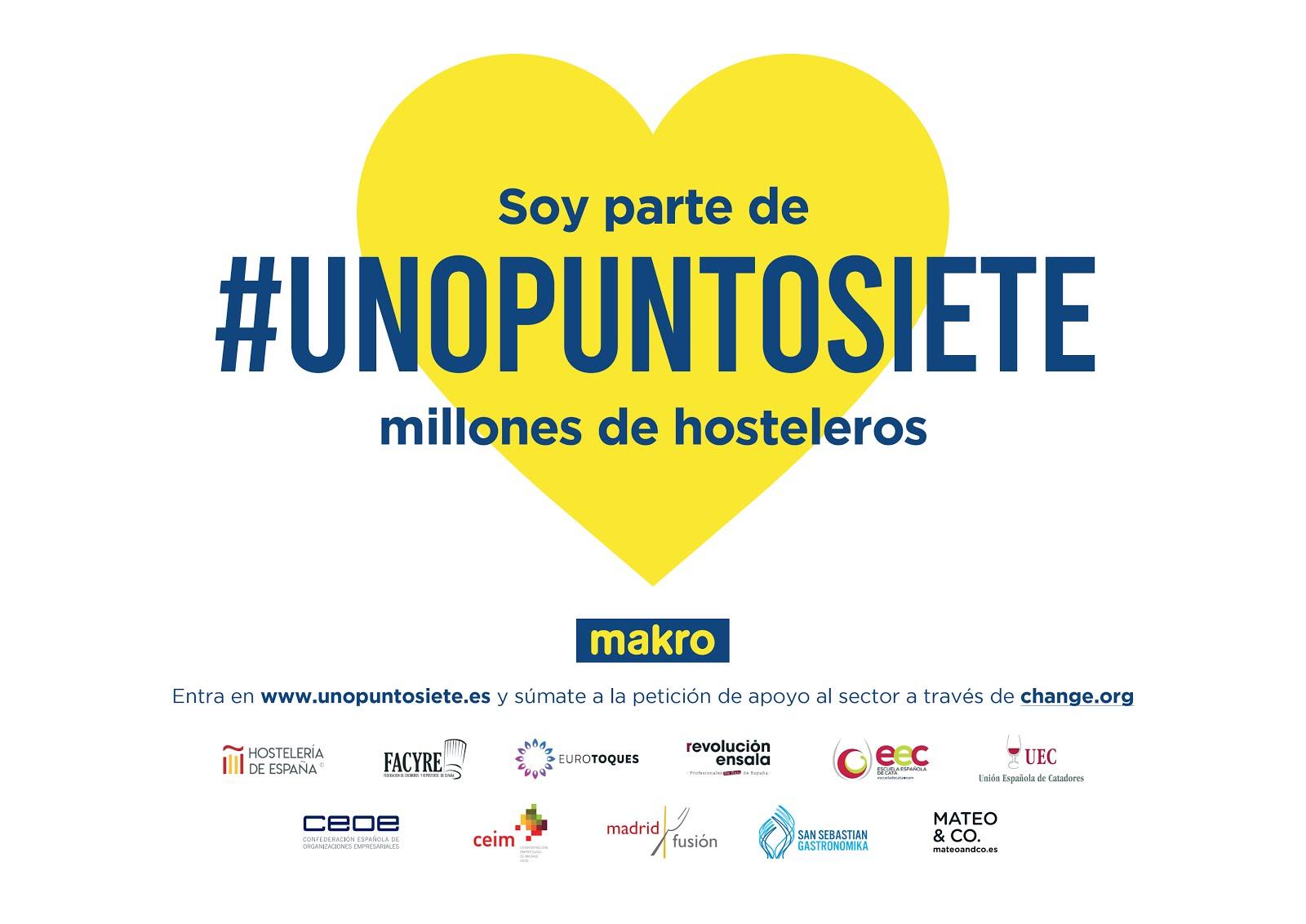 Soy partede #UNOPUNTOSIETE millones de hosteleros