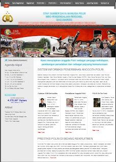 website penerimaan polri
