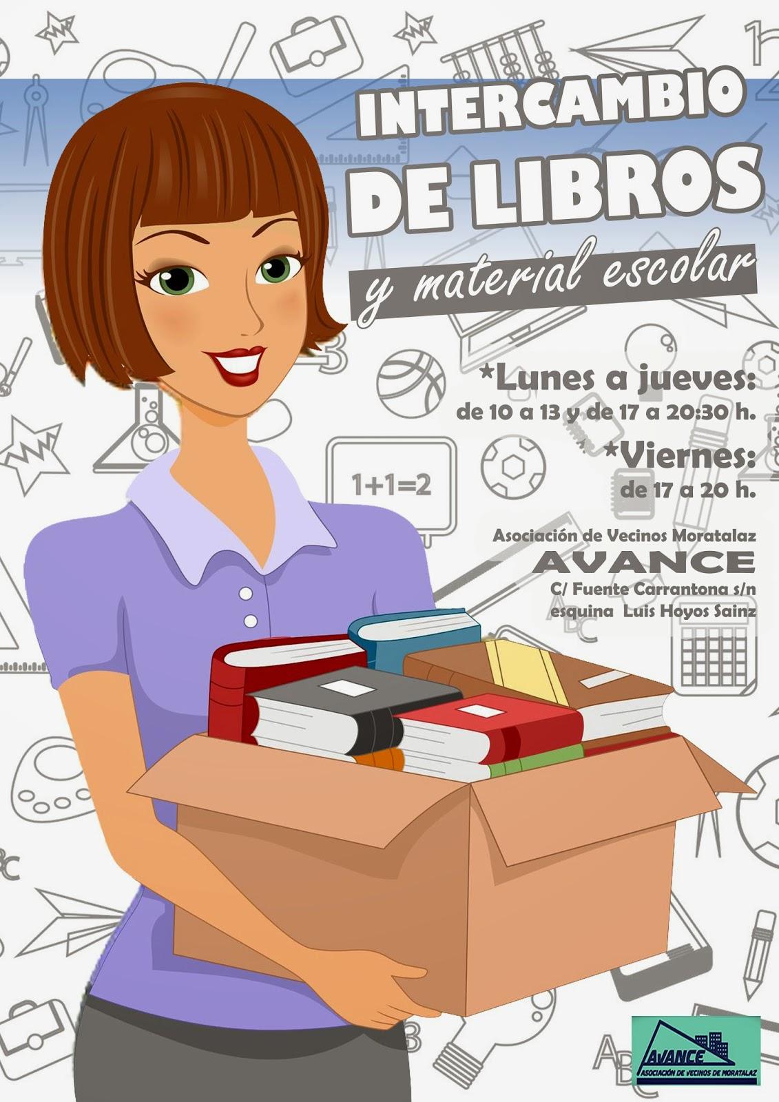 Intercambio de libros en Moratalaz.