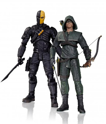 San Diego Comic-Con 2013 First Look DC Comics Arrow Action Figure 2 Pack - Deathstroke & The Hood (aka Green Arrow)