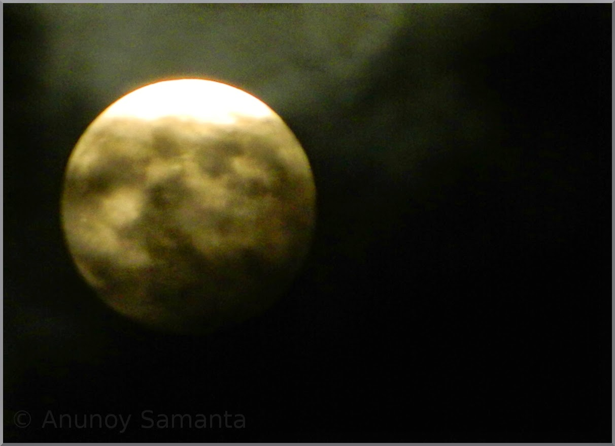 Full Moon and Clouds Photography