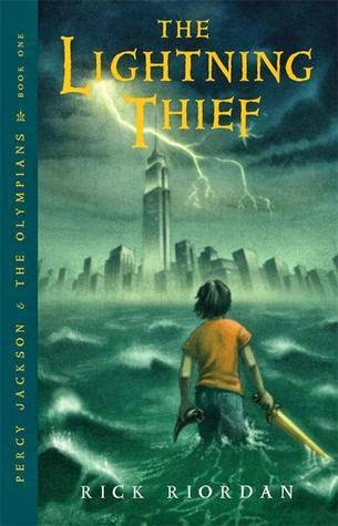 the cover of The Lightning Thief by Rick Riordan