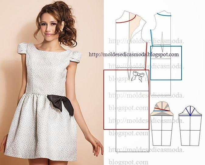 Выкройки модных платьев сшитые