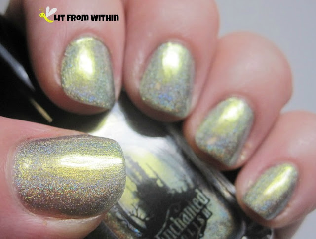I love the golden-chrome glow from this polish.