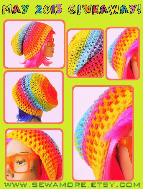 Rainbow Crochet Beanie GIVEAWAY! Ends May 10th 2013