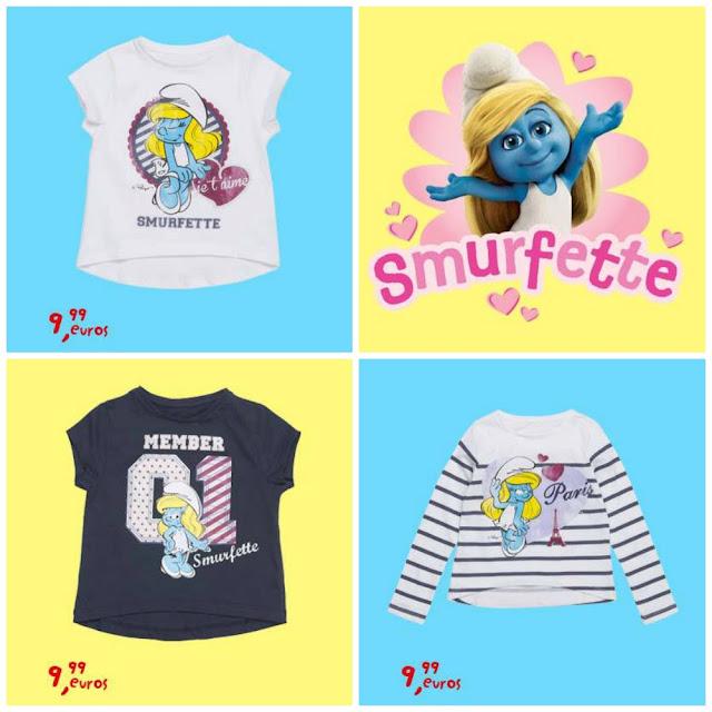 Camisetas Pitufos Niña