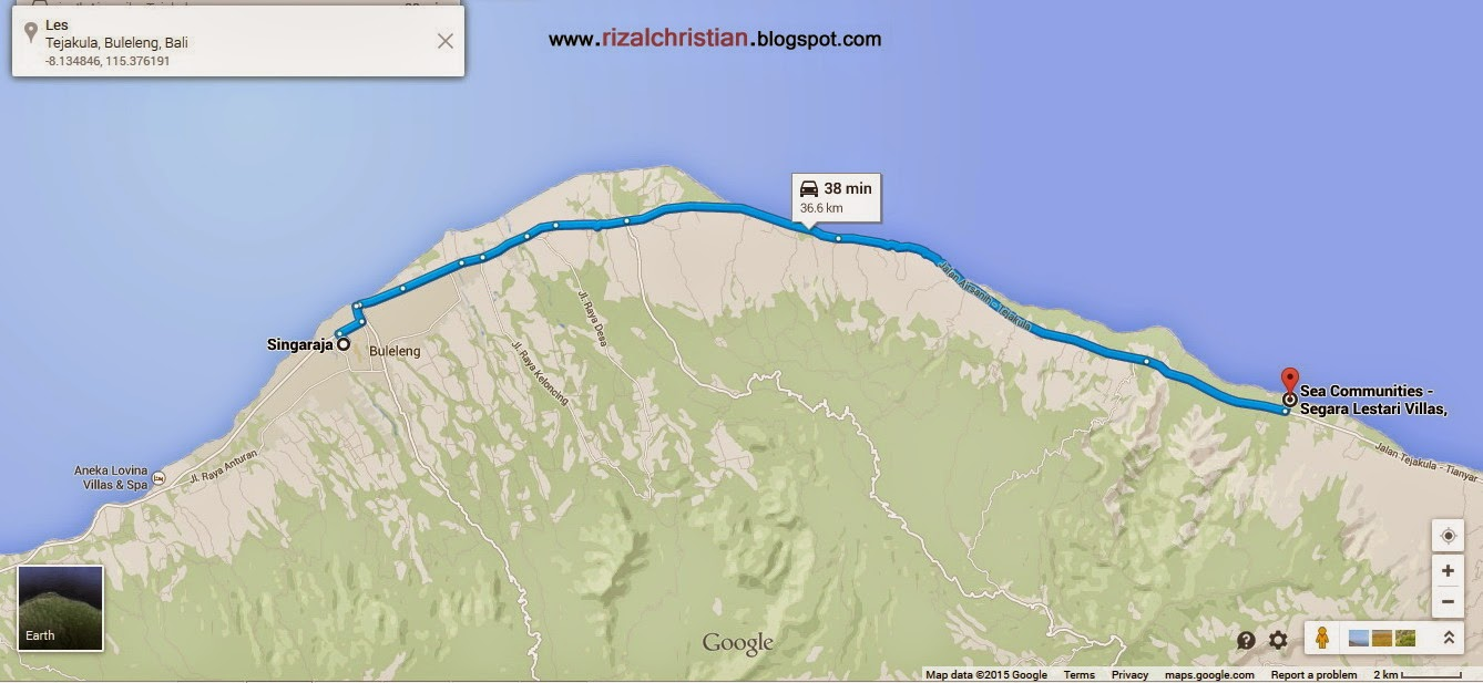 Rizal christian dive trip les village january 2nd 2015 google map of les village use sea communities segara lestari villas to locate in your google map thecheapjerseys Images