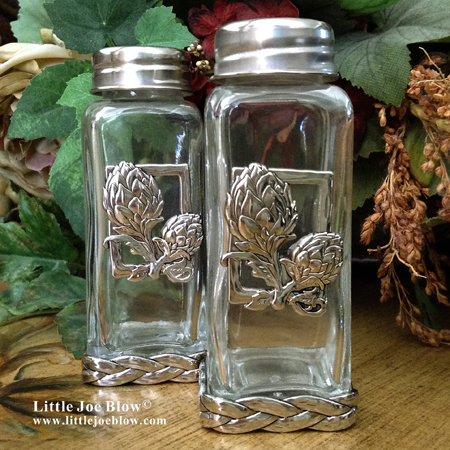 artichoke salt and pepper shakers sold by little joe blow photo 2