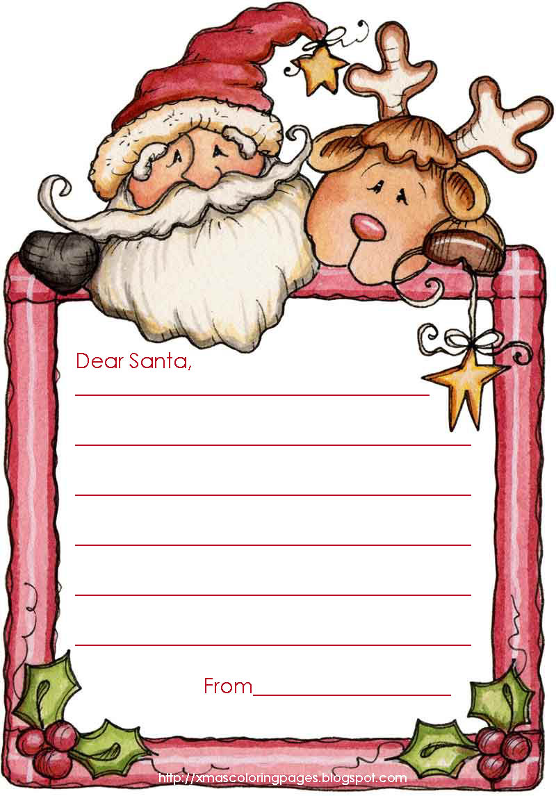 Santa letter writing paper template spiritdancerdesigns Choice Image