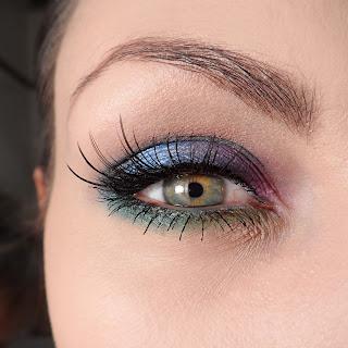 Kolorowe oko. Make up ;]