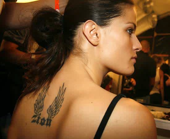 Isabeli Fontana Back Tattoo Designs