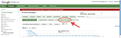 Screenshot showing you how to select Interests and Remarketing for more specific choices in your remarketing campaigns