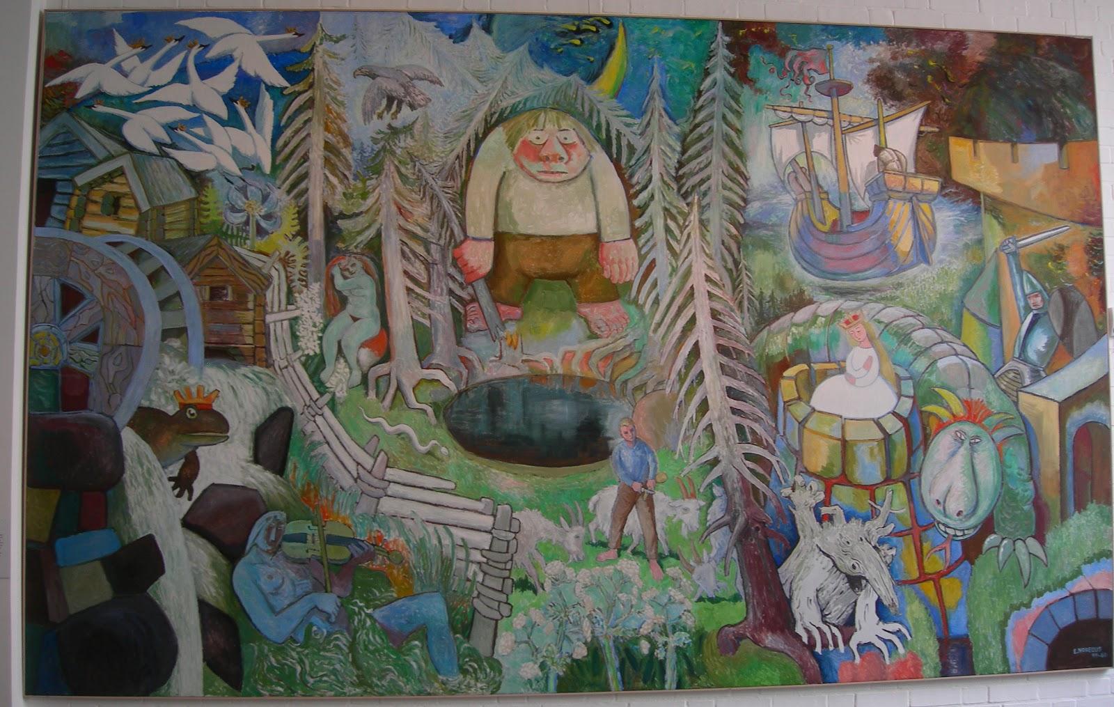 Johanna over zweden in het falun museum - Entree schilderij ...