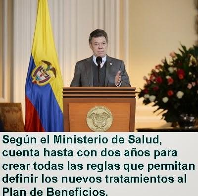 COLOMBIA: Colombia: Presidente firma ley para garantizar acceso a salud. En dos años se verán resul