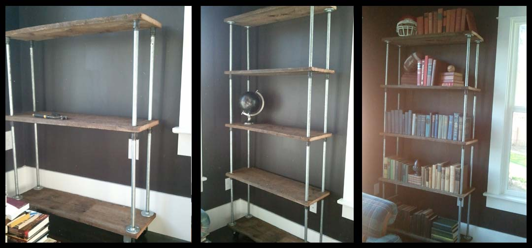 The farrier 39 s daughter diy bookshelf for Diy industrial bookshelf