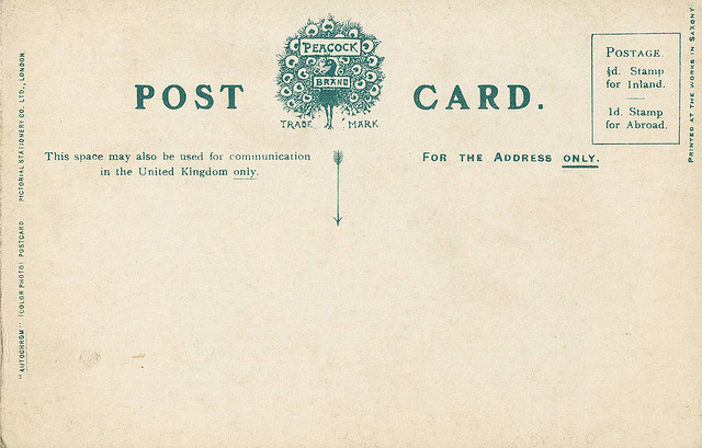 A blank postcard