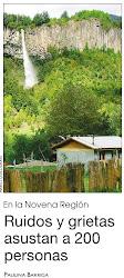 Ruidos y grietas asustan a pobladores de Reigolil,Chile.