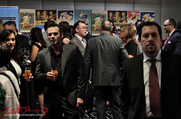 Friends talk and mingle at the Sydney Italian Festival Launch - Street Fashion Sydney